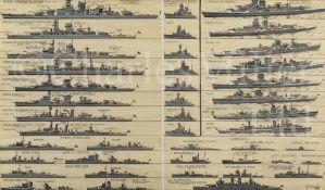 δ GEORGE HORACE DAVIS (BRITISH, 1881-1960) : Kriegsmarine recognition profiles, three-quarter bow