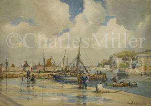 δ TOM WHITEHEAD (BRITISH, 1886-1959) Brixham Harbour