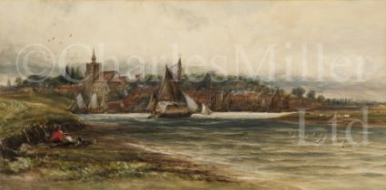 JAMES ORROCK (BRITISH, 1829-1913) : Hay barge off Maldon