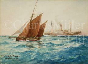 WILLIAM MINSHALL BIRCHALL (BRITISH, 1884-1941) : Tramp and trawler
