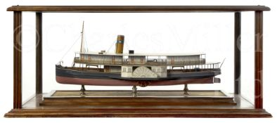 A BUILDER'S MODEL FOR THE BRAZILIAN PASSENGER PADDLE STEAMER CAXIAS BUILT BY HEPPLE, SOUTH SHIELDS,