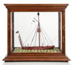 A WELL-PRESENTED SAILOR-MADE WATERLINE MODEL OF THE SOLWAY FIRTH LIGHTSHIP SELKER, CIRCA 1890