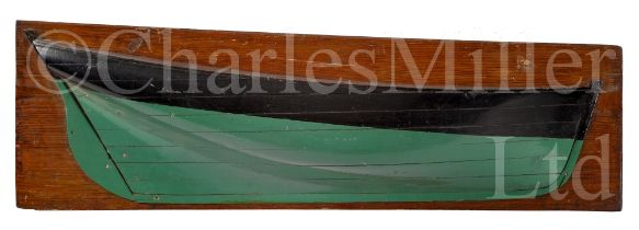 A HALF-BLOCK MODEL, PROBABLY FOR A FISHING LUGGER, CIRCA 1880