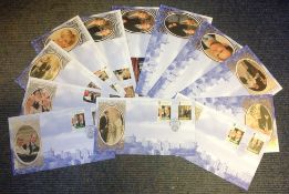 Benham FDC collection includes 12 covers commemorating the marriage of HRH Prince Edward and Miss