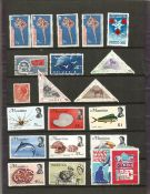 Worldwide stamp collection on 39 stamps on two leaves mint and used countries include China and