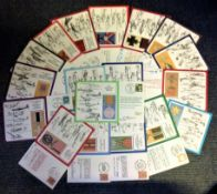 DM medal FDC collection (RAF DM 1-19) includes 19 fantastic signed flown covers. We combine