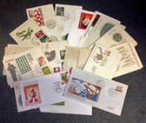 Dutch FDC Collection over 40 interesting covers dating back to the 1960s high catalogue value some