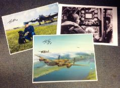 Dambuster Colin Cole 617 Sqd collection 3 signed items includes 1, 10x8 black and white photo
