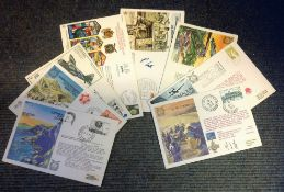 RAF Escaping Society FDC collection 9 flown covers commemorating various events from World War Two