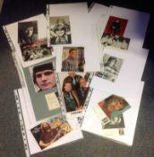 Music Collection 18 assorted signed photos and signature pieces some legendary names such as Cliff
