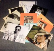 TV and Film collection 11 assorted signed photos and signature pieces names include Quentin