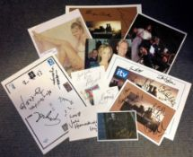 Coronation Street collection over 25 assorted signed photos, signature pieces and white cards from