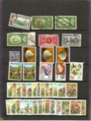 British Commonwealth stamp collection 3 loose leaves countries include South Africa, Fiji and Ceylon