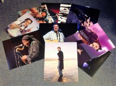 Music collection 10 unsigned 10x8 colour photos of some well kown names in music includes Will