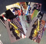 Motor Racing Collection 8 signed assorted colour photos signed by drivers that have all raced in
