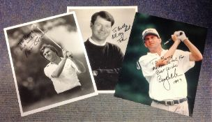 Golf Collection 3 signed black and white photos from Tom Watson, Billy Andrade and Bill Rogers