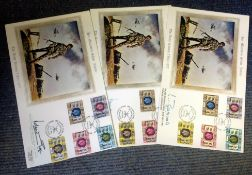 Military FDC Collection 3 oversized signed covers commemorating Her Majesty's Silver Jubilee The