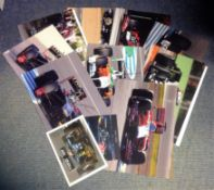 Motor Racing collection 11 signed assorted colour photos signed by drivers that have all raced in