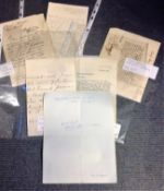 Historical letter collection includes 8 ALS some interesting names such as Madge Kendall, James