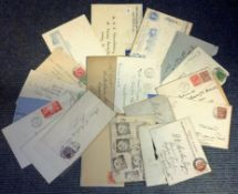 Vintage post collection dating back to before Queen Elizabeth II 27 items includes 1 vintage uniform
