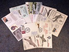 RAF FDC collection includes 7 signed flown covers includes some great signatures such as E. G