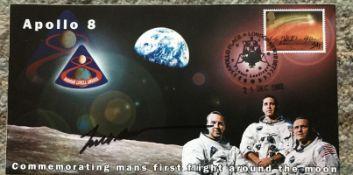 Apollo Astronaut Frank Borman signed 2002 Apollo 8 cover. Condition 10/10. All autographs come