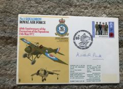 Sir Keith Park WW2 Battle of Britain leader signed 3 sqn RAF cover.