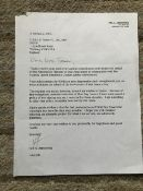 Neil Armstrong Apollo 11 moonwalker, letter with hand signed salutation and Initials.
