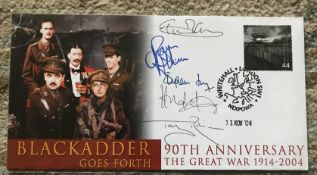 Black Adder Goes Forth rare multiple signed cover. 2004 Scott cover signed by All Cast.