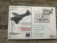 WW2 Colditz Castle POWs multiple signed RAF Duke of Yorks Escaping Society cover.