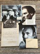 Vintage TV/Film signed collection. John Mills, Harry Andrews, John Gielgud, Ralph Richardson