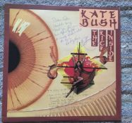 Kate Bush signed 33 rpm record sleeve for The Kick Inside with hand written rare lyrics