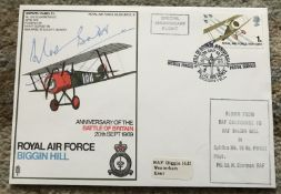 WW2 Fighter ace Sir Douglas Bader DSO DFC signed RAF Biggin Hill Battle of Britain cover
