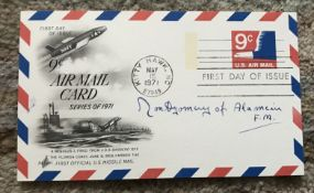 FM Montgomery of Alamein signed 1971 US Missile Mail Air Mail card.