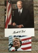 US Presidents collection. Gerald Ford and Jimmy Carter autographs