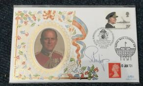 Prince Phillip signed 1996 Benham 75th Birthday exhibition cover, only 50 signed. Condition 9/10.