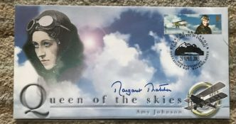 Prime Minister Margaret Thatcher signed 2003 Amy Johnson Queen of the Skies cover.