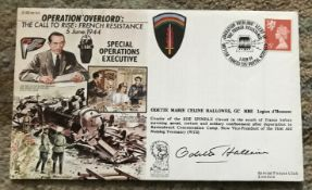 WW2 Resistance heroine Odette Hallows GC signed Operation Overlord cover