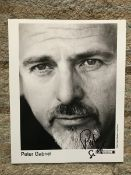 Music Peter Gabriel signed 10 x 8 inch Real World records b/w portrait photo.