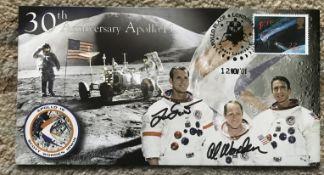Astronauts Dave Scott and Al Worden signed 30th ann Apollo 15 2001 cover.