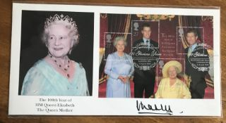 Prince Charles signed 2000, 100th Birthday of the Queen Mother FDC.