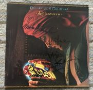 Electric Light Orchestra band signed 33rpm record Discovery, 6 autographs