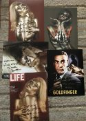 James Bond Goldfinger Collection. Five 10 x 8 inch colour photos signed by Shirley Eaton.