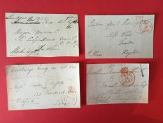 Early English Cricketers signed collection. Selection Of Eight Envelope Fronts Signed By