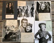 Vintage Film signed collection. Moira Shearer, Betty Hutton, Merle Oberon, Sylvia Syms, Ann Robinson