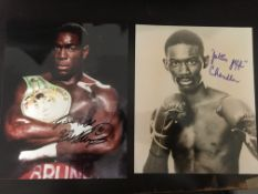 Boxing signed photo collection. Selection of twelve 10 x 8 inch photographs signed by national and