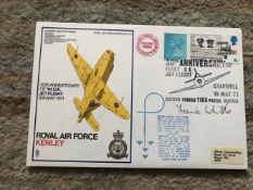 Jet Engine designer Sir Frank Whittle signed 1971 RAF Kenley Gloster Whittle cover.
