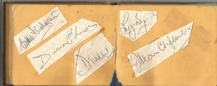 Busby Babes Football Autograph book very rare item includes legends such as Eddie Colman, Duncan