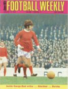Sir Matt Busby and George Best signed Jimmy Hills Football Weekly Magazine January 12, 1968 volume 1