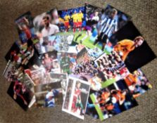 Football collection 28 signed assorted photos from some well-known names that have played in English